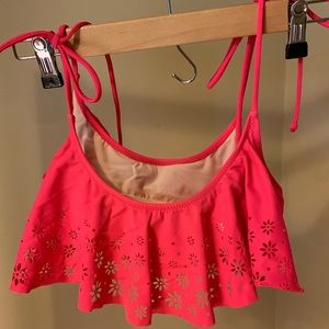Victoria's Secret PINK Tie Flounce Swim Top
